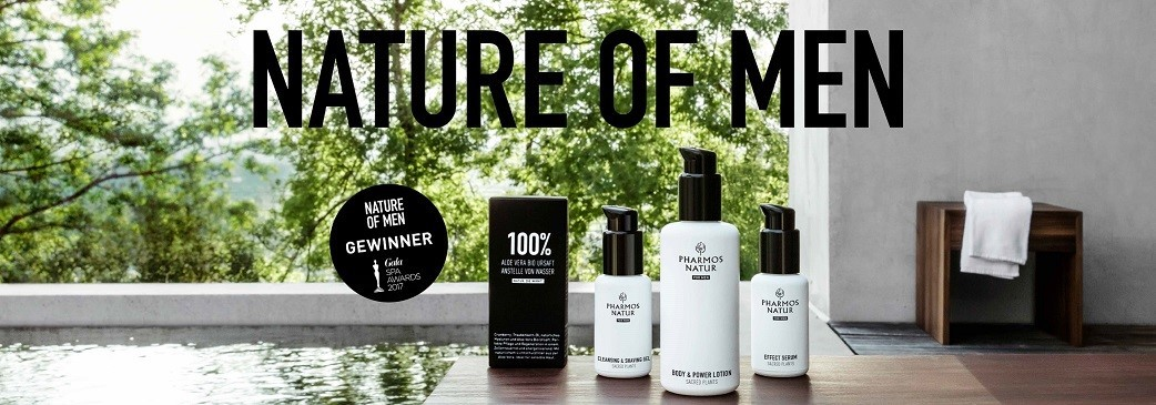 NATURE OF MEN by PHARMOS NATUR - de 100% natuurlijke cosmetica